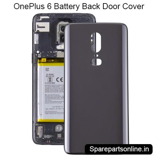 quality design d911d 5259a OnePlus 6 Black Battery Back Door Cover Housing