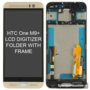 htc-One-M9-Plus-lcd-folder-display-screen-with-frame-gold