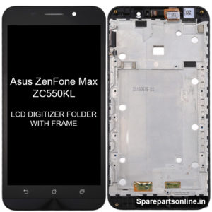 Asus-ZenFone-Max-ZC550KL-lcd-screen-display-folder-with-frame-black