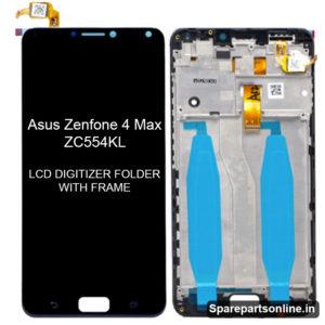 Asus-Zenfone-4-Max-ZC554KL-lcd-screen-display-folder-with-frame-black