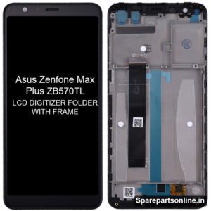Asus-Zenfone-Max-Plus-ZB570TL-lcd-folder-display-screen-with-frame-black