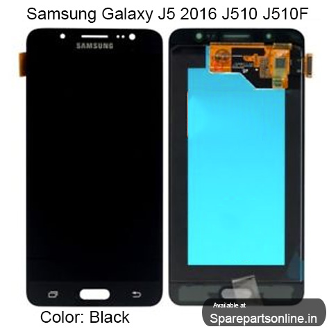 Samsung Galaxy J5 2016 SM-J510 Replacement Black Lcd Screen Display Combo  Folder with Digitizer Glass - Without Brightness Adjustment