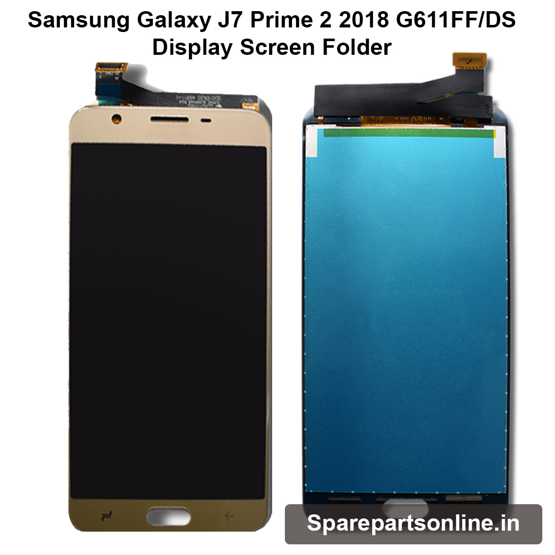 Samsung Galaxy J7 Prime 2 2018 G611FF Gold Display Lcd Screen Folder with  Touch Digitizer Combo