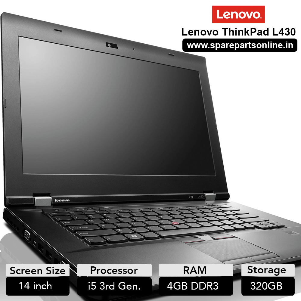 Lenovo Thinkpad L430 T430 Used Laptop with 14 inch Screen Core i5 3320M  (3rd Gen) 4GB DDR3 RAM 320GB HDD